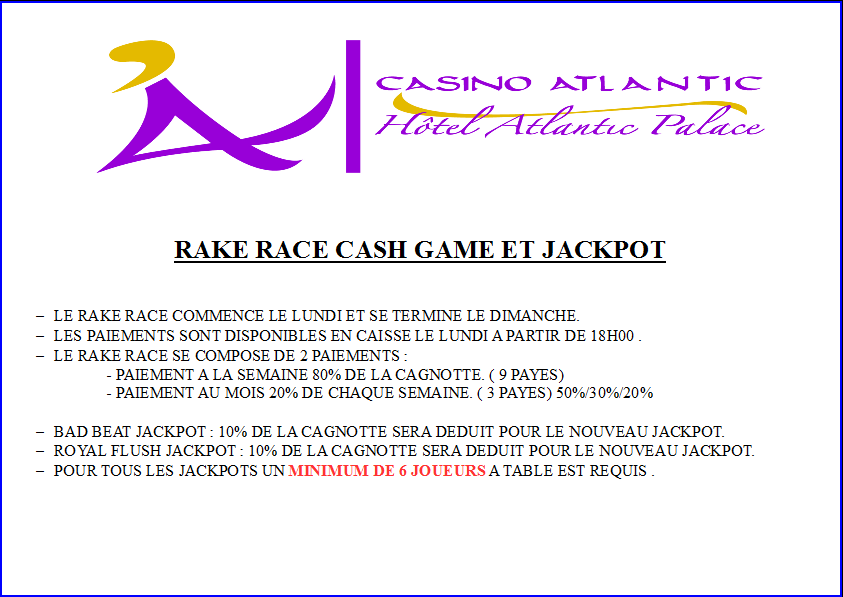 RAKE RACE RULES